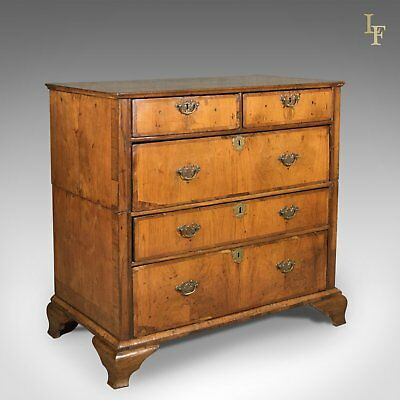 Antique Chest of Drawers, Georgian Walnut English c.1720