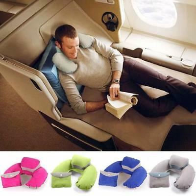 U Shaped Travel Inflatable Neck Pillow Flight Car Head Rest Support Cushion OO