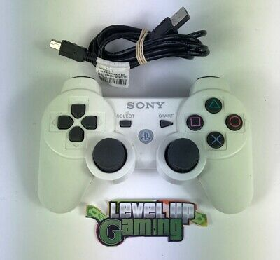 Sony PS3 Dual Shock 3 White Wireless Controller **FREE UK POSTAGE**
