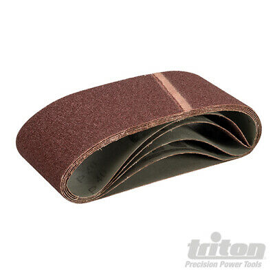 LOT de 5 Bandes abrasives 100 x 560 mm TRITON - Voir Grains