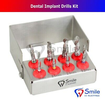 Dental Implant Drills 8Pcs Set External Irrigation Surgical W/FREE Bur Holder CE