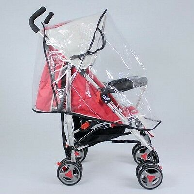 Baby Clear Waterproof Stroller Umbrella Weather Shield Rain Wind Snow Cover MP