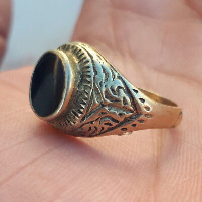 LOW OUTBID !!ancient antique roman legionary ring bronze artifact rare type