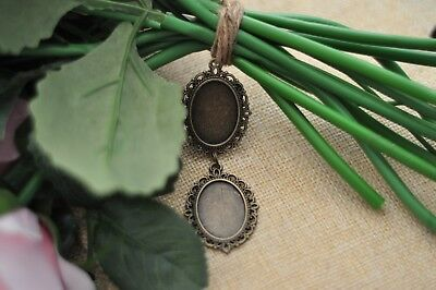 Bouquet Memory Frame Charm Photo Bride Wedding Flower Antique Bronze Oval Gift