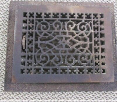 Antique cast iron floor register, Victorian era. TUTTLE & BAILEY MFG. CO. NY.