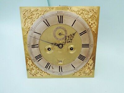 Antique Long Case Grandfather Clock Dial And Movement