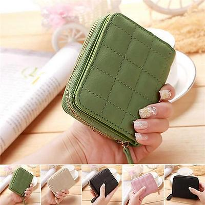 Women Fashion PU Leather Small Wallet Zip Coin Purse Card Holder Clutch Handbag