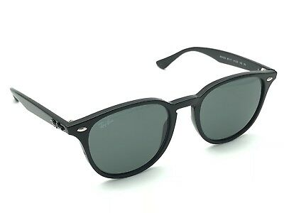 358b85608c0 RAY-BAN RB 4259 601 71 Polished Black Round Keyhole Sunglasses 51-20 ...