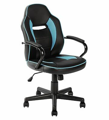 Argos Home Mid Back Office Gaming Chair - Blue & Black - E32