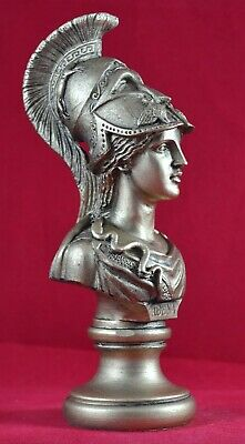 Athena bust greek statue wisdom gold patina goddess NEW Free Shipping -Tracking