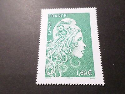 FRANCE SALON 2018, timbre VERT 1.60 GRAND FORMAT MARIANNE ENGAGEE neuf**, MNH