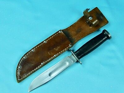 Ww2 Wwii Us Military Army Kinfolks Fighting Commando Knife Leather Scabbard Case