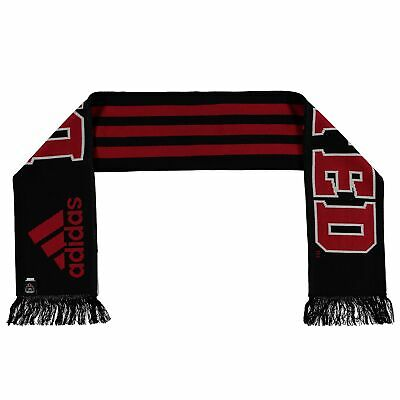 adidas Mens Gents Football Soccer DC United Jacquard Scarf Wrap - Red