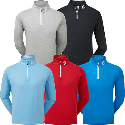 FootJoy Mens Chillout Golf Pullover Sweater 1/4 Zip Jumper - Athletic Fit