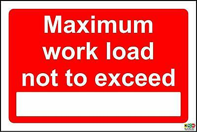 Maximum work load exceed sign