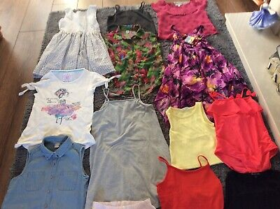 Girls Summer Clothes Bundle Dresses Tops T.shirts 8-9-9 Years