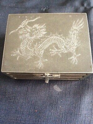 Very Rare Chinese Kut Hing Cigerette Box Metal