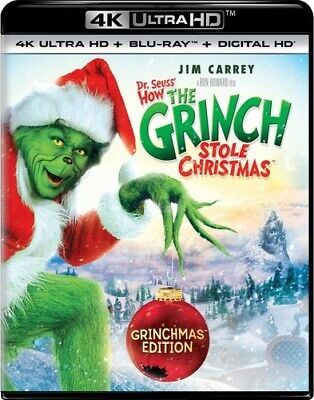 How the Grinch Stole Christmas (2000 Jim Carrey) 4K ULTRA HD BLU-RAY NEW