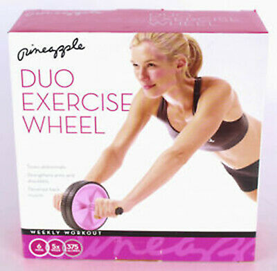 Ab Roller Wheel Core Strength Abdominal Training Exercise Workout Fitness Gym UK