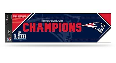 New England Patriots Super Bowl LIII Champions Bumper Sticker Decal Sticker
