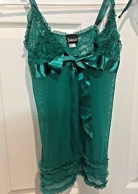 Fredericks of Hollywood S Lingerie Teddy SET Thong Panties Green Lace NEW ecd3faa48