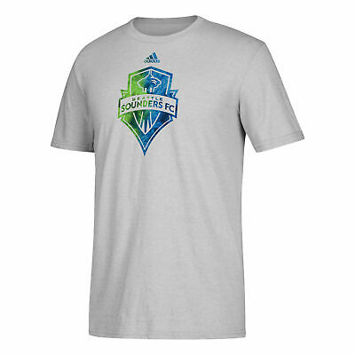 Seattle Sounders Smoke Out Fußball T Shirt Tee Top Sportshirt Grau Herren adidas