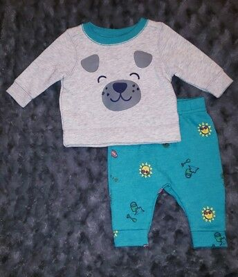 99229d193 NWOT Old Navy Baby Boy Clothes 0-3 Months 2 Piece Puppy Sweatshirt Pants  Outfit