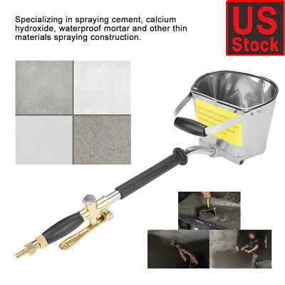 Cement Mortar Sprayer Hopper 4 Jet Paint Wall Concrete Tool Stucco Gun Spray