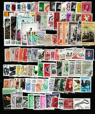 #1553=Worldwide mix of 100 different commemorative stamps