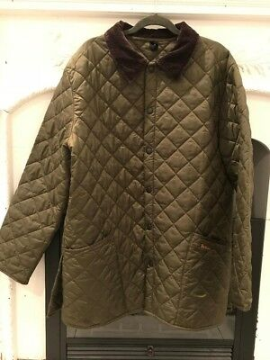 Barbour Heritage Quilted Jacket Liddesdale Olive Mens XL Mens Very Slightly  Used 96c6c14ff2de