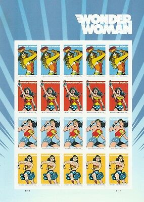 Scott# 5149-5152 WONDER WOMAN 2016 MINT NH SHEET of 20 FOREVER STAMPS FREE SHIP