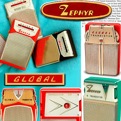 Global & Zephyr transistor radios--fine book on all the collectible models!