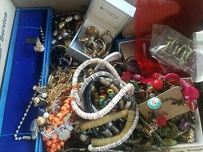 Jewelry Lot Estate Sale 7 Pounds Wearable Unsearched Vintage Broaches Cufflinks