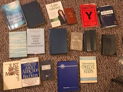 A.A. and Al-anon & NA Books, Lot of 17 Books - Alcoholics Anonymous Addiction