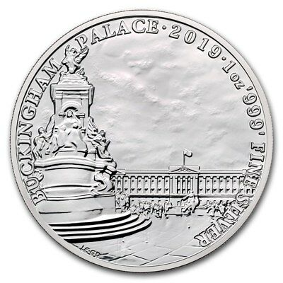 2019 Great Britain Landmarks of Britain Buckingham Palace BU 1 oz Silver Coin