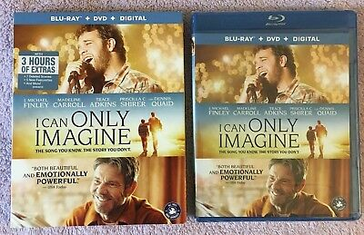 I Can Only Imagine (Blu-ray/DVD, 2018, 2-Disc Set, Widescreen) Brand New Sealed