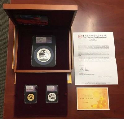 2017Z China Panda Moon Festival Medals 3 Coin Set