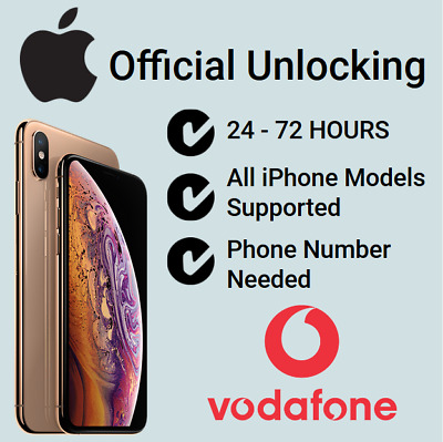 Factory Unlock Service For iPhone 8 8+ X XS XR XS Max Vodafone UK. Number needed