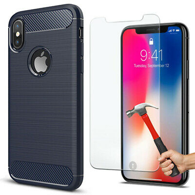Coque Matte Apple iPhone X/XS/MAX/XR 6/6S/Plus/7/8 Ultimate + Film  Verre Trempé