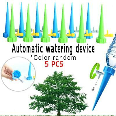 5x Plant Self Watering Spikes Stakes Automatic Valve Waterer Device Garden Lawn