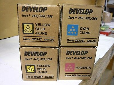 Konica Minolta/Develop TN324 Full set of Toners New & Genuine