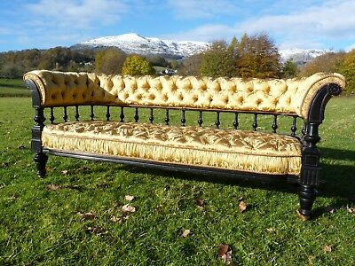 Victorian Antique Sofa (possibly Gillows) upholstered in Gainsborough Silk