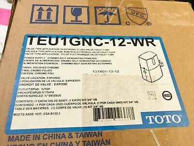New In Box Square D Toto Teu1Gnc-12-Wr Electronic Flush Valve Chrome Best Price