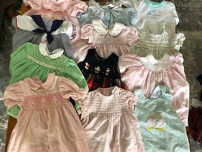 Huge vintage baby girl dresses lot. Sizes 12 months to 3t. Over 50 pieces!