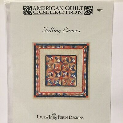 American Quilt Collection Falling Leaves Laura J Perin Counted Needlepoint Work