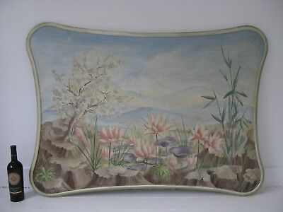 Wonderful Original Peter Stebbing Hand Painted Headboard - Vintage, Shabby Chic