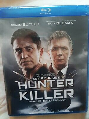 Hunter Killer (Blu-ray, 2019, RARE Canadian version WITH FRENCH)