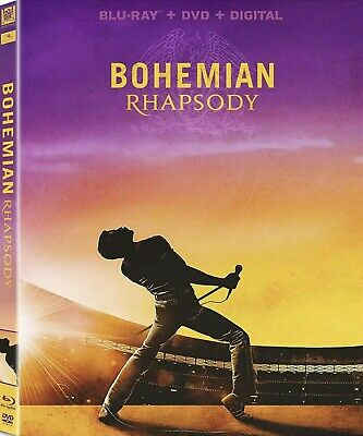 Bohemian Rhapsody(Blu-Ray+Dvd+Digital)W/slipcover New
