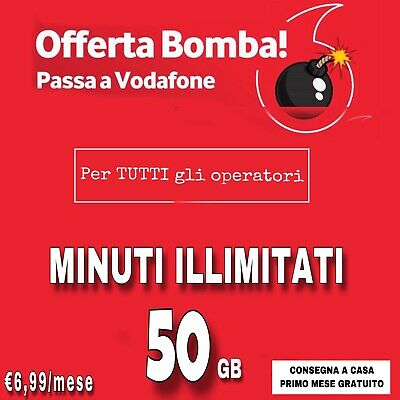 PASSA A VODAFONE SPECIAL 50 Gb + MINUTI ILLIM IN 4.5 G TIM WIND TRE COUPON