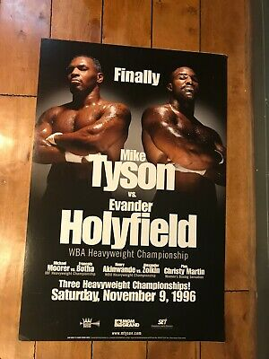 45da5d03 EVANDER HOLYFIELD VS Mike Tyson 2 24 x 36 Official Fight Poster ...